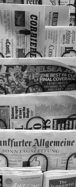 In de krant